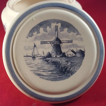 Delft Blauw Container With Lid