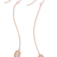 Caden Drop Earrings In Rose Gold