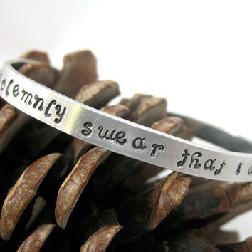 Harry Potter Bracelet  I Solemnly Swear That I Am Up To by foxwise