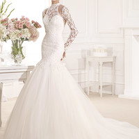 Tarik Ediz Wedding dress G1136 - netfashionavenue