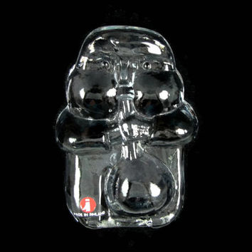 Glass Man - Vintage Glass Blower Paperweight by Jorma Vennola for Iittala, Made in Finland 1978, Mid Century Modern Glass Sculpture