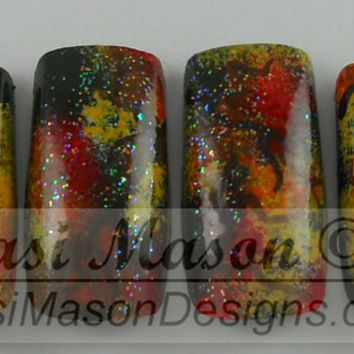 Autumn Leaves Instant Acrylic Nail Set