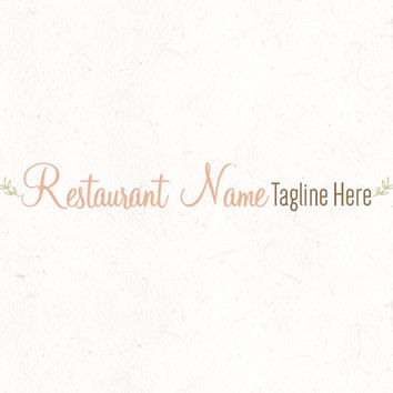 Logo design template | Restaurant Logo | Food Recipe Blog Header | instant download | digital download | psd file | DIY