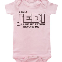 Star Wars Baby Infant Tshirt - I am A Jedi Like My Father Before Me