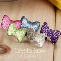 Leegoal Sparkle Bow Charm for Headphone Jack 5 colors own all one time