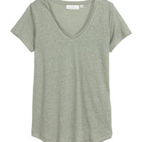 H&M V-neck Linen Top $17.99