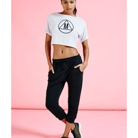 Missguided - Active Drawstring Cropped Joggers Black