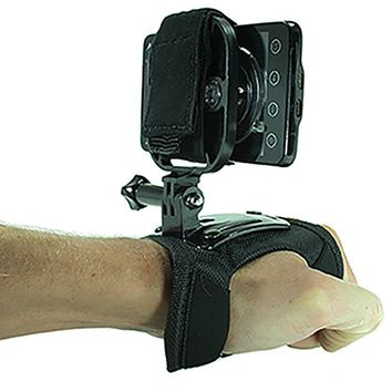 Action Mount® Hand Strap (Glove) + Universal Mount Adapter for Smartphone (Action Mount), + Thumb Screw, Operable with Any Smartphone. Strongest Hold on the Market. Action Mount for Gopro Iphone 5s 5 4s Samsuang Galaxy S5 S4 S3. Use with a Phone, or Gopro