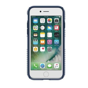 Speck Products Presidio Grip Cell Phone Case For Iphone 7   Twilight Blue/marine Blue