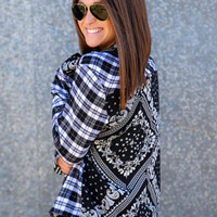 Paisley Plaid Button Up