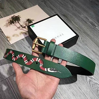 MENS GREEN OFFICIAL BELTS WITH GUCCI BELT