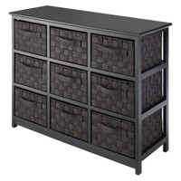 Whitmor Woven Strap 9 Drawer Chest