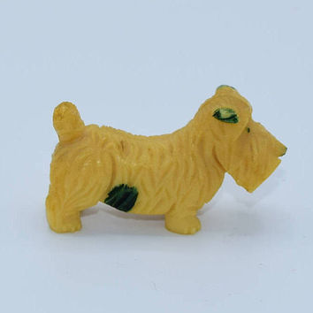 Celluloid Scottie Terrier Dog Vintage Japanese Scottie Figurine Miniature Animal Figurine Dog Lover Gift Dog Collectible Gift for Her Him