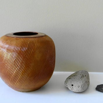 Brown Stoneware Vase, Rustic Brown vase, Minimalist vase, Ceramic Vase, House Warming Gift, Flower vase, Pottery Vase