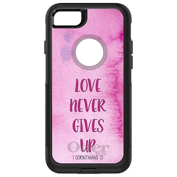 DistinctInk™ OtterBox Commuter Series Case for Apple iPhone or Samsung Galaxy - 1 Corinthians 13 - Love Never Gives Up