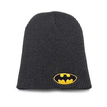 dc comics batman logo beanies Casual Bonnet hat knitted hats for men and women Warm Unisex caps Skullies B08F5