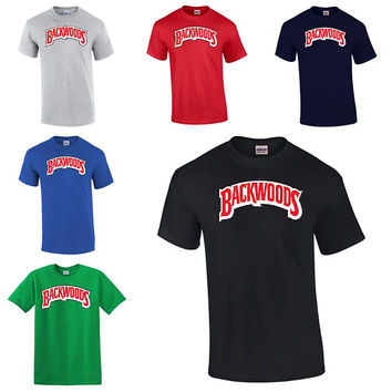 Backwoods T-Shirt Cigar Smokers Roll Up Henny Blunt Weed Pot 420 Joint Kush Cannabis Shirt