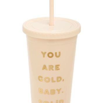 ban.do Sip Sip You Are Gold Travel Tumbler | Nordstrom