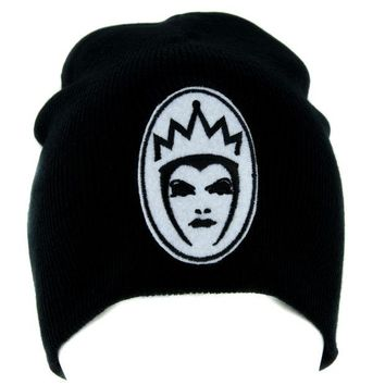 ac spbest Evil Queen of Snow White Beanie Knit Cap Goth Alternative Clothing Brothers Grimm Villain