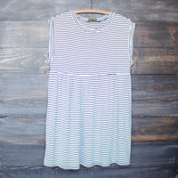 black and white striped out baby doll dress