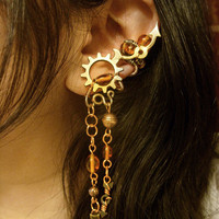 Slave To Steampunk Ear Cuff Set The Trinket Collector by Jynxsbox