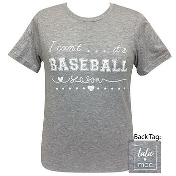 Girlie Girl Originals Lulu Mac It's Baseball Season T-Shirt