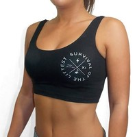 Survival of The Littest Sport Crop Top - Team Inmind