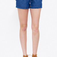 Corey Frayed Denim Shorts