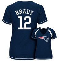 Majestic New England Patriots Tom Brady Determined to Win Tee - Women's, Size: