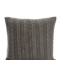 Cable Knit Faux Shearling Throw Pillow