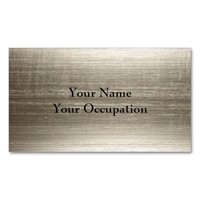 Professional Contemporary Metallic Gold Faux Metal Double-Sided Standard Business Cards (Pack Of 100)