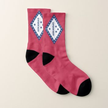 All Over Print Socks with Flag of Arkansas State