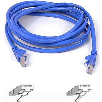 Belkin Components 40ft Cat6 Snagless Patch Cable, Utp, Blue Pvc Jacket, 23awg, 50 Micron, Gold Pla