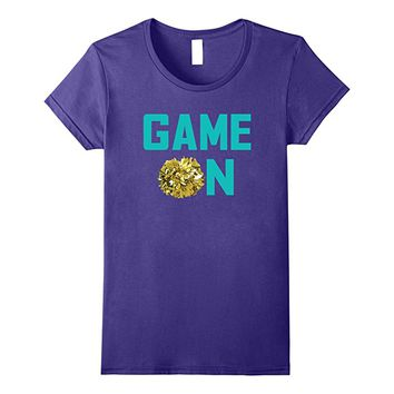 Game On Pom Pom Cheer Team Gift T Shirt