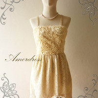 Amor Vintage Inspired Butter Cream Beige Vintage by Amordress