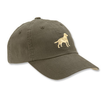 Dog Baseball Cap / Embroidered Labrador Ball Cap -- Orvis
