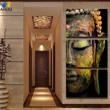 Free shipping buddha oil effect  painting wall art paintings picture paiting canvas paints home decor Giveaways wall sticker