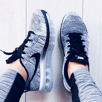 """""""NIKE"""" New Trend of Men and Women Running Shoes Sneakers Knitting Grey"""