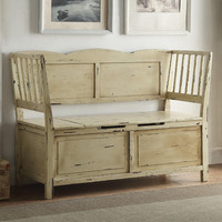Anthony California Colonial Wood Storage Entryway Bench
