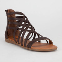 Soda Gladiator Womens Sandals Brown  In Sizes