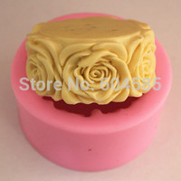 Popular Round Floral 0140 Craft Art Silicone Soap mold Craft Molds DIY Handmade soap molds