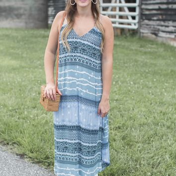 To The Coast Dress, Light Blue