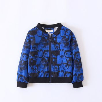 Little Sad Boy Print Children Jacket