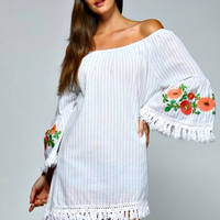 Plus Size Kate Boho Floral Sleeve Tunic Top