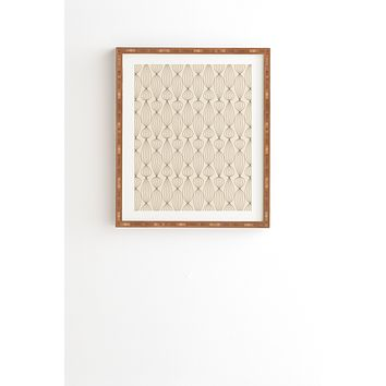 Gabi Lanterns Mocha Framed Wall Art