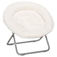 Ivory Sherpa Faux Fur Hang-A-Round Chair