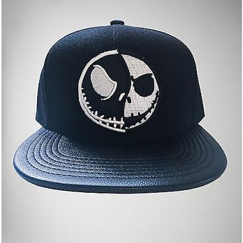 Jack Face Nightmare Before Christmas Snapback Hat - Spencer's