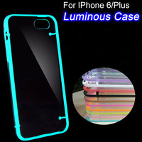 i6/6+ Capa Shell Cute Luminous Noctilucent  Soft Case For Apple iphone 6 plus 5.5 Glow in the Dark Phone Back Cover For iphone 6