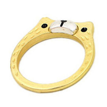 Gold Bear Ring