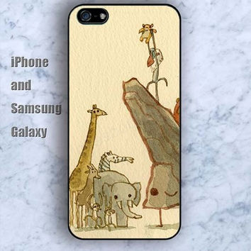 Animal cartoon world Giraffe dream iPhone 5/5S Ipod touch Silicone Rubber Case Phone cover Waterproof